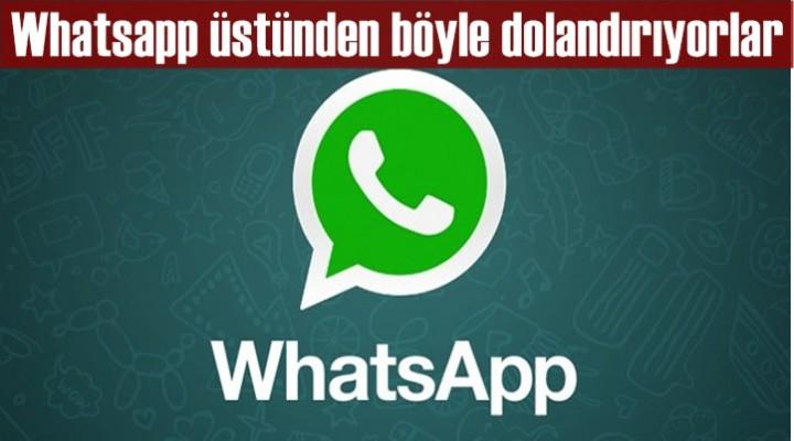 Whatsapp üstünden böyle dolandırıyorlar