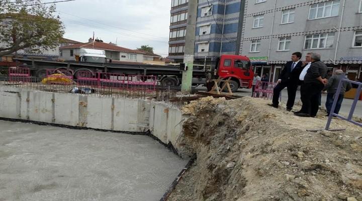 Başkanı Cem Kara Cami inşaatını denetledi