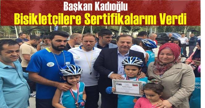 Bisiklet Kullanma Konusunda Eğitim Alan Öğrencilere Sertifikaları Verildi