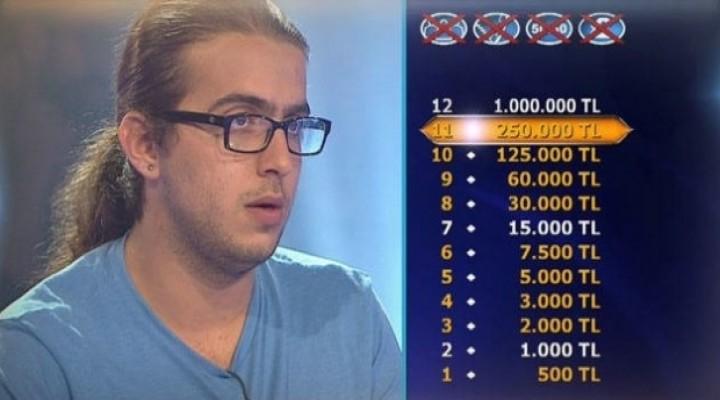 Lise öğrencisi Çağdaş 1 milyonluk soruya ulaştı