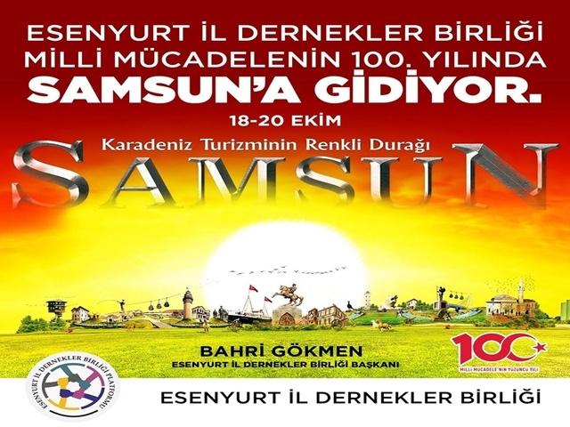 Esenyurt İl Dernekler Birliği Samsun'a Gidiyor