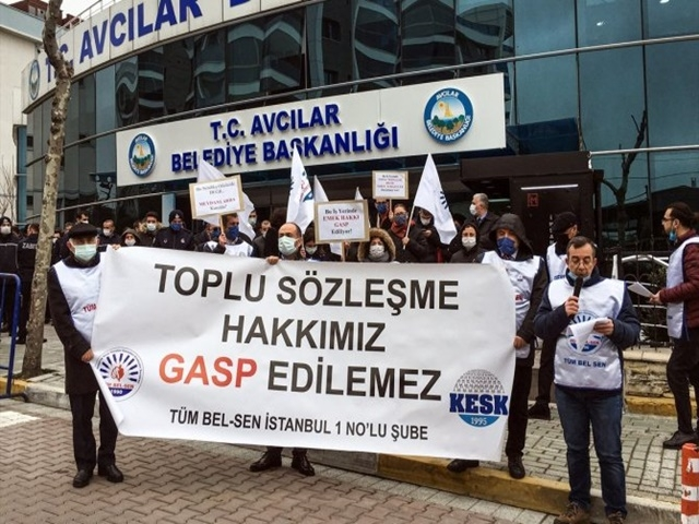 Avcılar Belediyesi işçileri grev kararı aldı!