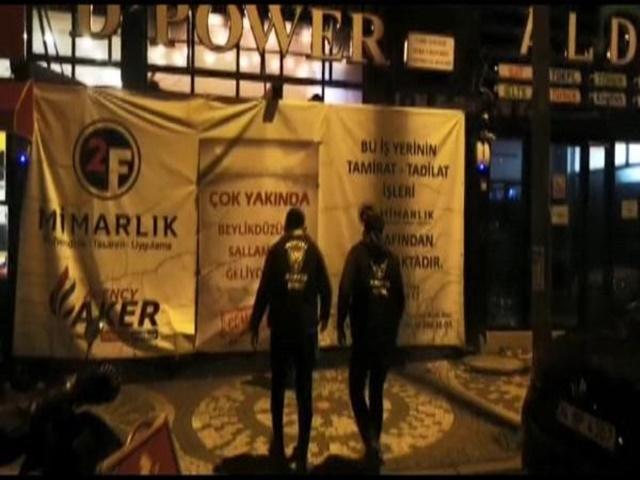 Esenyurt'ta 'tadilatta' afişi altındaki kafeye parti baskını