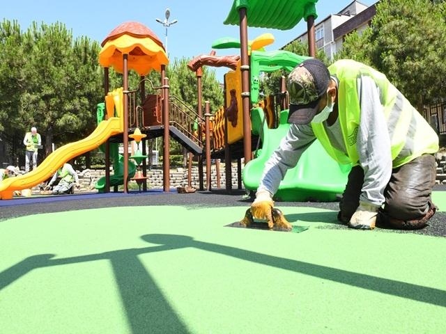 Esenyurt Belediyesi'nden Bağlarçeşme Mahallesi'ne yeni çocuk parkı