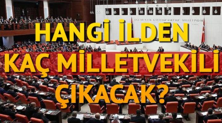 Hangi ilden kaç milletvekili çıkacak? İllere göre milletvekili dağılımı
