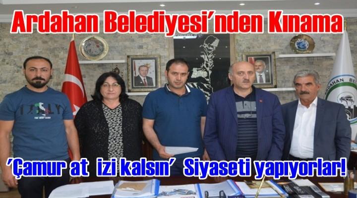 Ardahan Belediyesi'nden Kınama