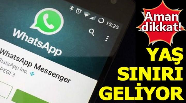 WhatsApp'a Yaş Sınırı!