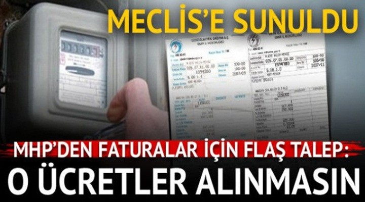 MHP'den elektrik faturalarına indirim teklifi