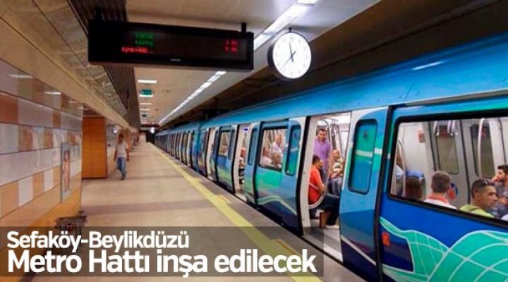 Sefaköy-Beylikdüzü Metro Hattı inşa edilecek
