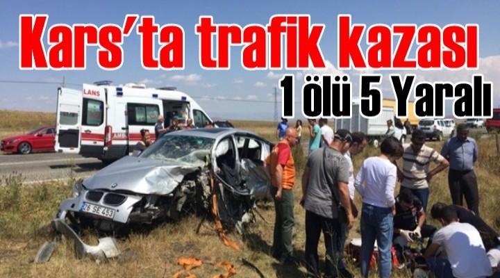 Kars'ta trafik kazası: 1 ölü 5 yaralı