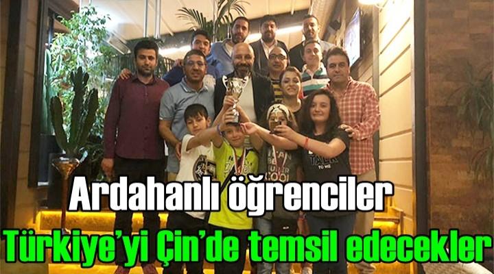 Ardahanlı öğrenciler Türkiye'yi Çin'de temsil edecekler