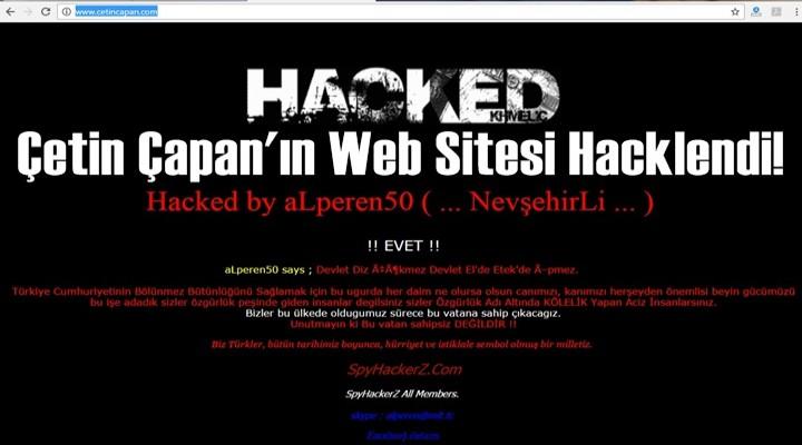 Çetin Çapan'ın Web Sitesi Hacklendi