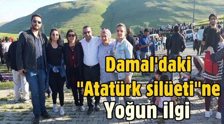 Ardahan Damal'daki 'Atatürk silüeti'ne yoğun ilgi