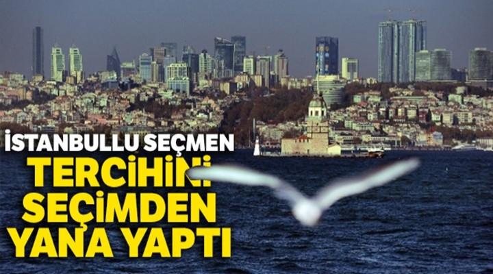 İstanbullu seçmen tercihini seçimden yana yaptı