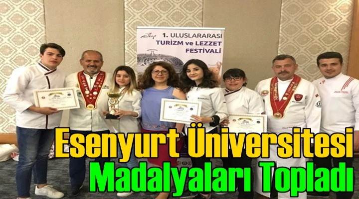 Esenyurt Üniversitesi Madalyaları Topladı