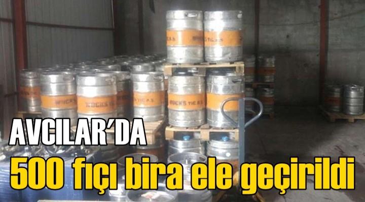 Avcılar'da 500 fıçı bira ele geçirildi
