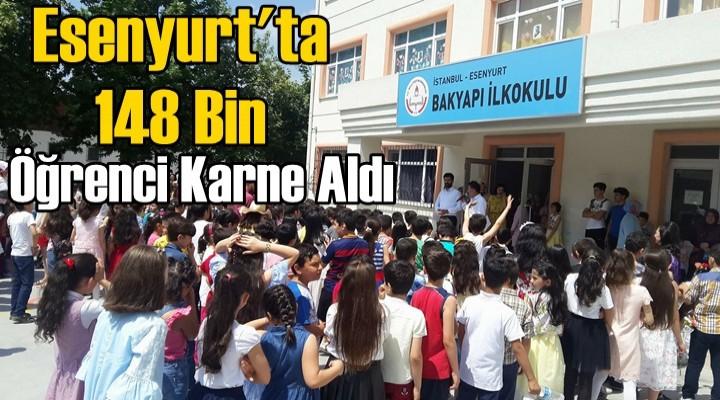 Esenyurt'ta 148 Bin öğrenci karne aldı