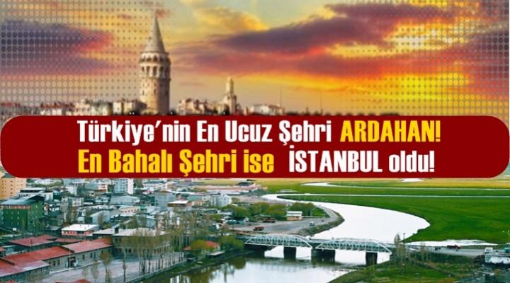 İşte Türkiye'nin en pahalı ve en ucuz şehri