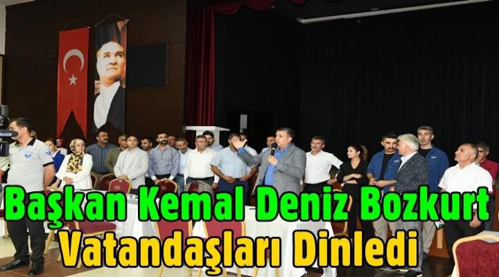 Başkan Kemal Deniz Bozkurt vatandaşları dinledi