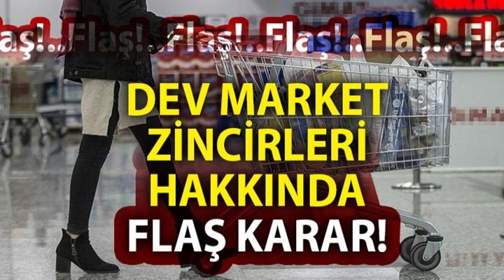 23 zincir market hakkında soruşturma başlatıldı
