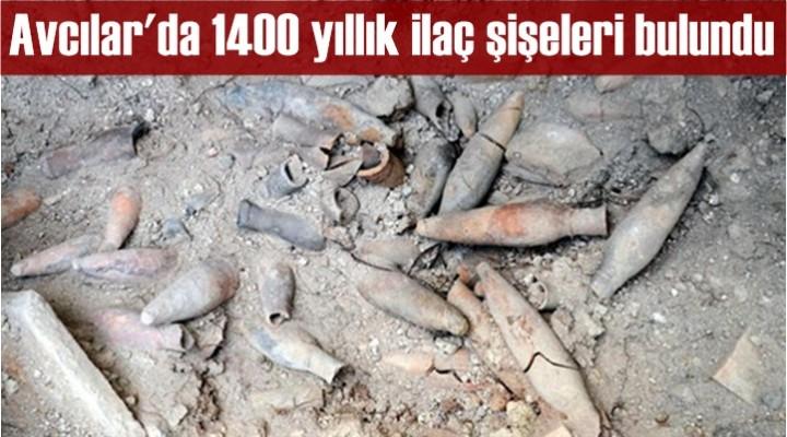 Avcılar'da 1400 yıllık ilaç şişeleri bulundu