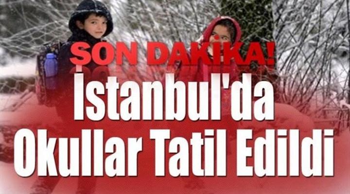 İstanbul'da okullar pazartesi günü tatil edildi