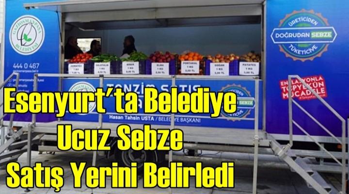 Esenyurt'ta belediye ucuz sebze satış noktasını belirledi