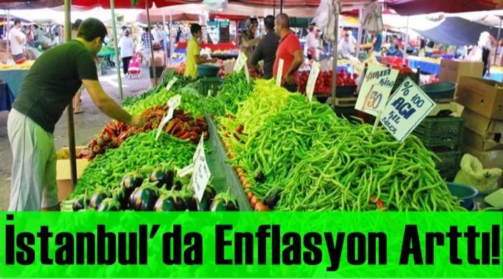 İstanbul'da enflasyon yıllık yüzde 14 arttı
