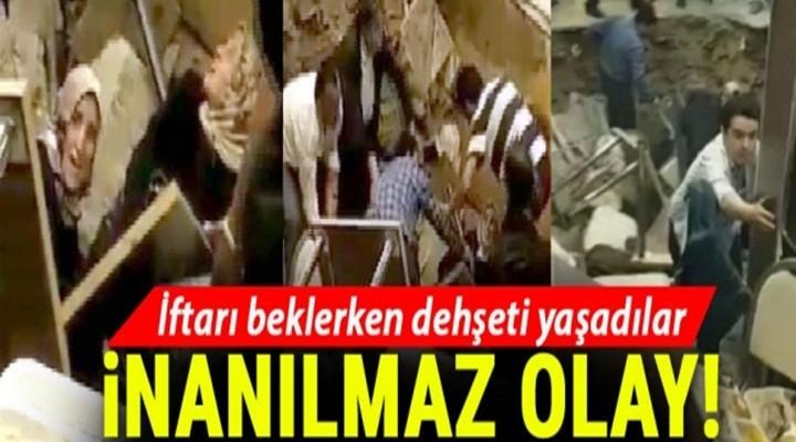 Avcılar'da iftar sırasında restoranın zemini çöktü