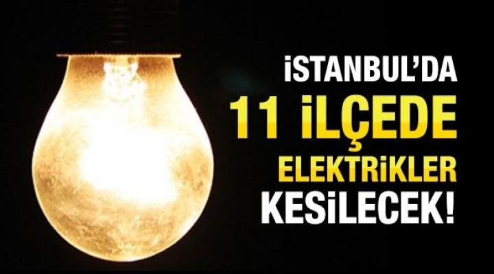 Esenyurt ve 10 ilçesinde elektrik kesintisi