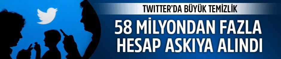 Twitter'da büyük temizlik: 58 milyondan fazla hesap askıya alındı