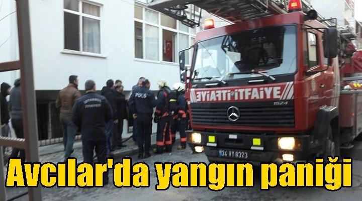 Avcılar'da yangın paniği