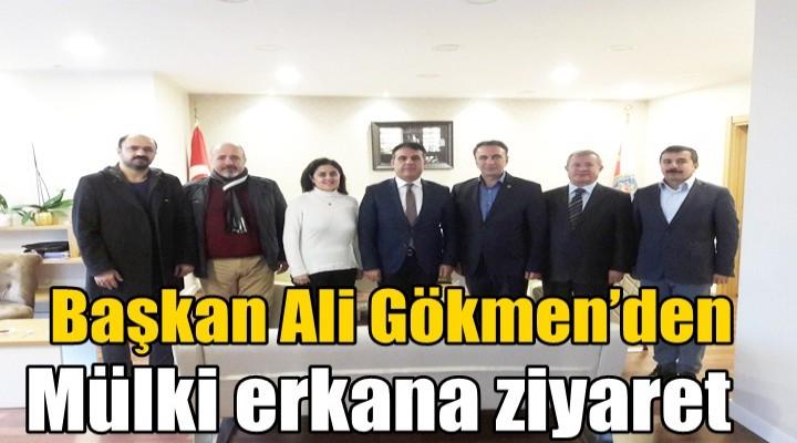 Başkan Ali Gökmen'den mülki erkana ziyaret