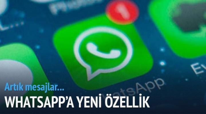WhatsApp'a yeni özellik geldi