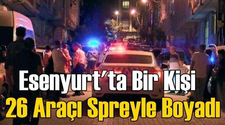 Esenyurt'ta spreyli saldırgan mahalleliyi sokağa döktü