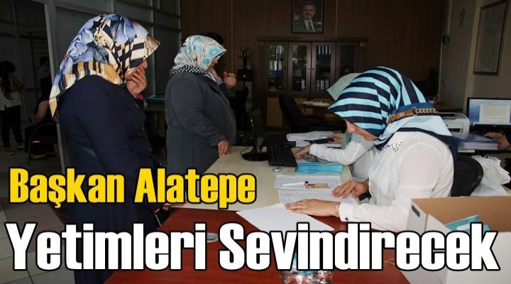 Başkan Alatepe  Yetimleri Sevindirecek