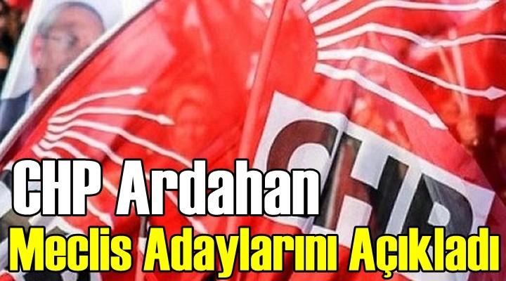 CHP Ardahan Belediye Meclis Adaylarını Açıkladı