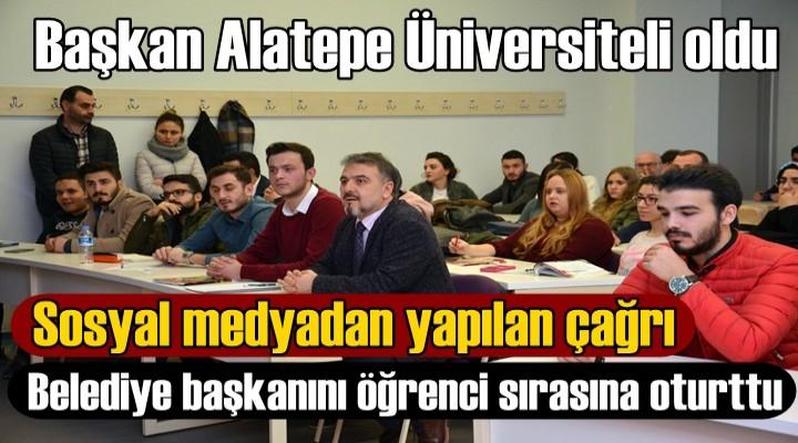 Başkan Alatepe Üniversiteli oldu