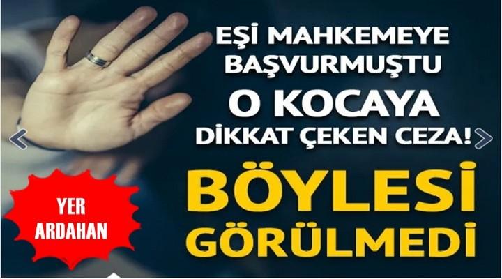 Ardahan'da Dayakçı kocaya kitap okuma cezası!