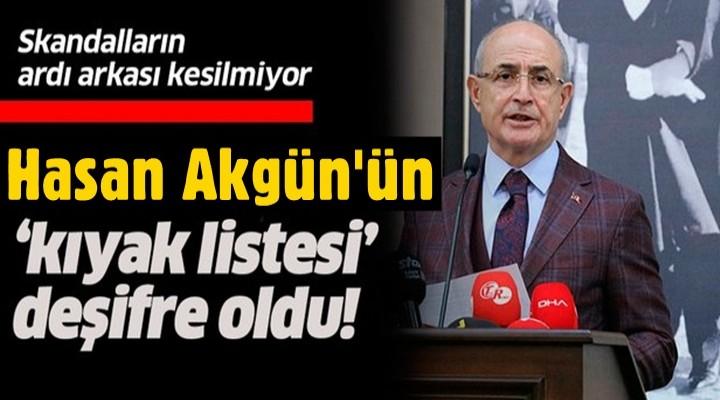 Büyükçekmece'de Hasan Akgün'ün 'kıyak listesi' deşifre oldu