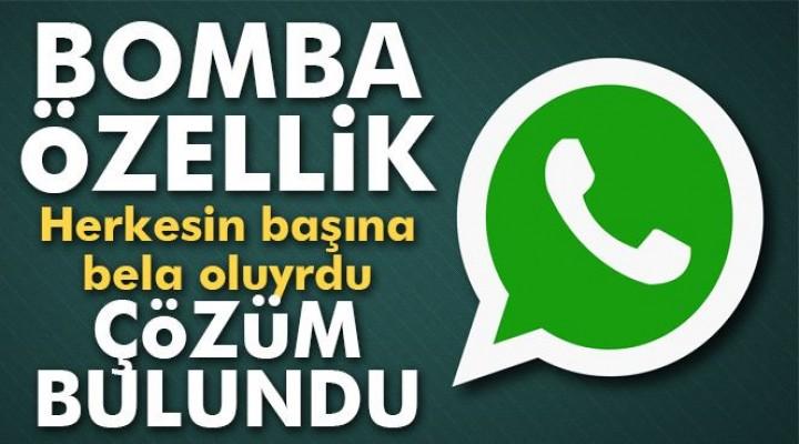 Whatsapp'tan bomba özellik!