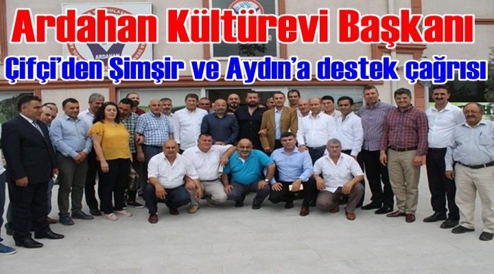 Ardahan Kültür Evi'nden Şimşir ve Aydın'a destek