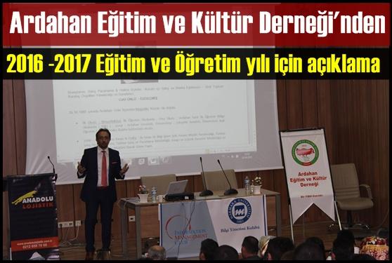 ÜNLÜ; 2016-2017 Öğretim yılı açıklaması