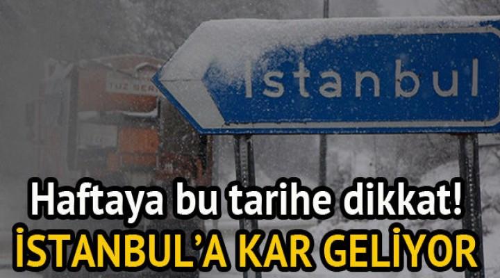 İstanbul'a kış geliyor!