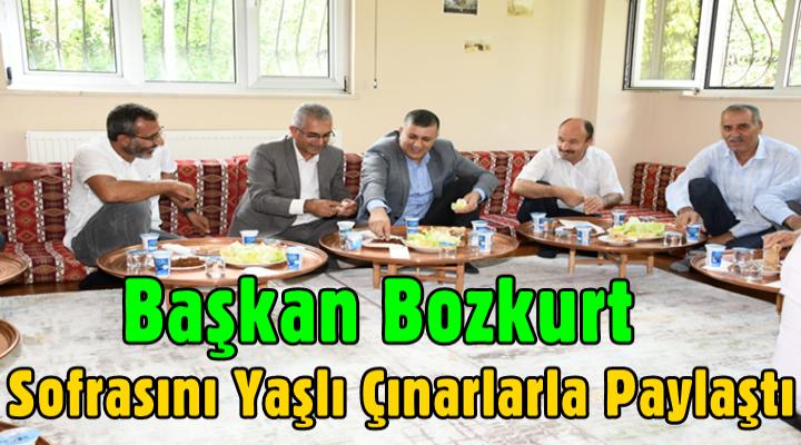 Başkan Bozkurt Sofrasını Yaşlı Çınarlarla Paylaştı