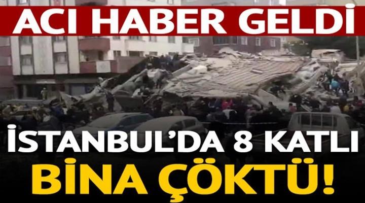 İstanbul'da bir bina çöktü!