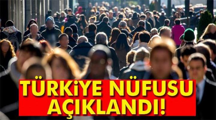 Türkiye nüfusu açıklandı!