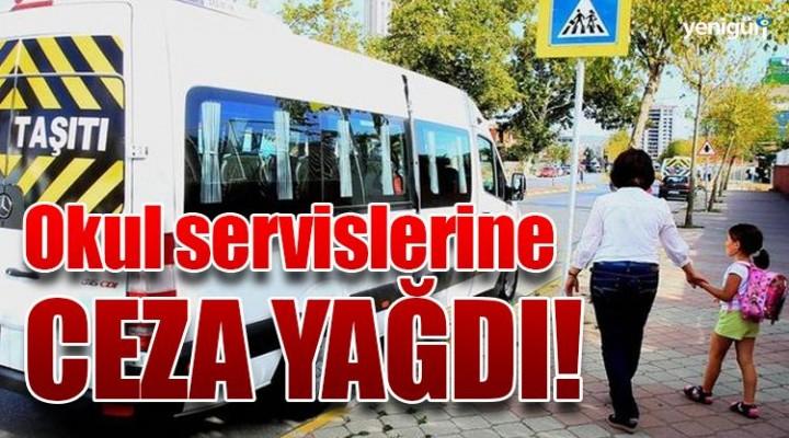 İstanbul'da okul servislerine ceza yağdı