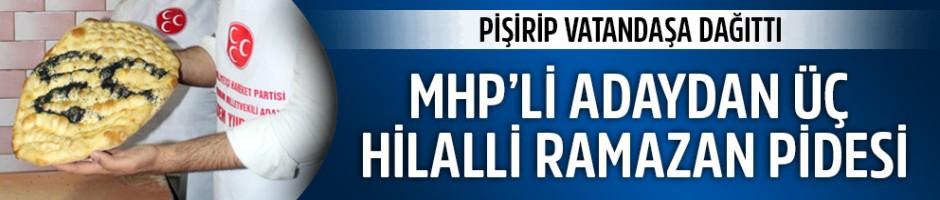 MHP'li aday fırına girdi, 3 hilalli pide pişirdi