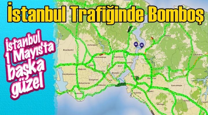 İstanbul trafiği bomboş